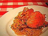 渡り蟹のトマトクリームスパ