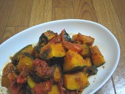 カボチャとトマトのバルサミコマリネ