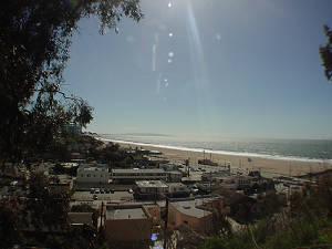 イームズ邸からのサンタモニカビーチ