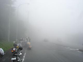 箱根でのすごい霧