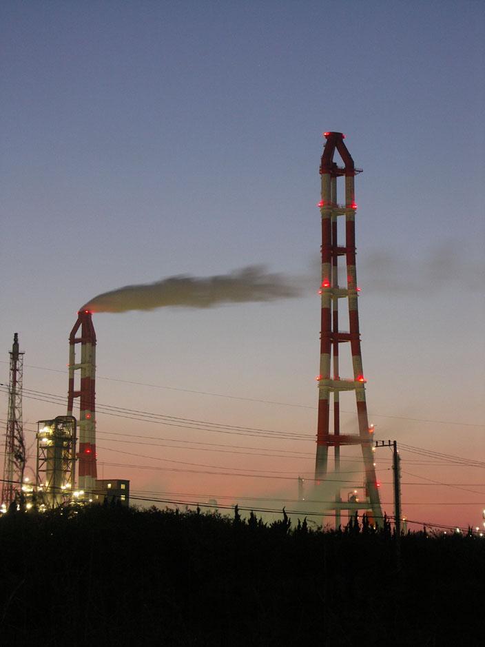鹿島のどこかの工場の写真