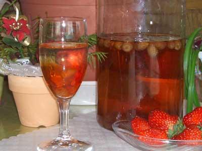 ワイルドストロベリー酒
