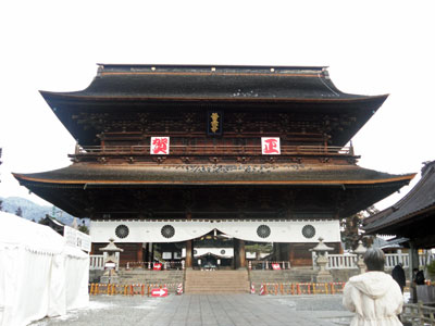 新春の善光寺