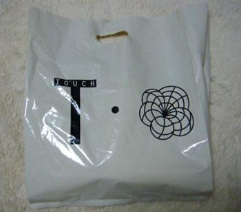 TOUCHのビニール袋