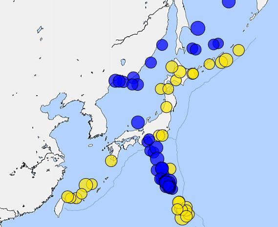 深発地震を見ると、東南海地震は...