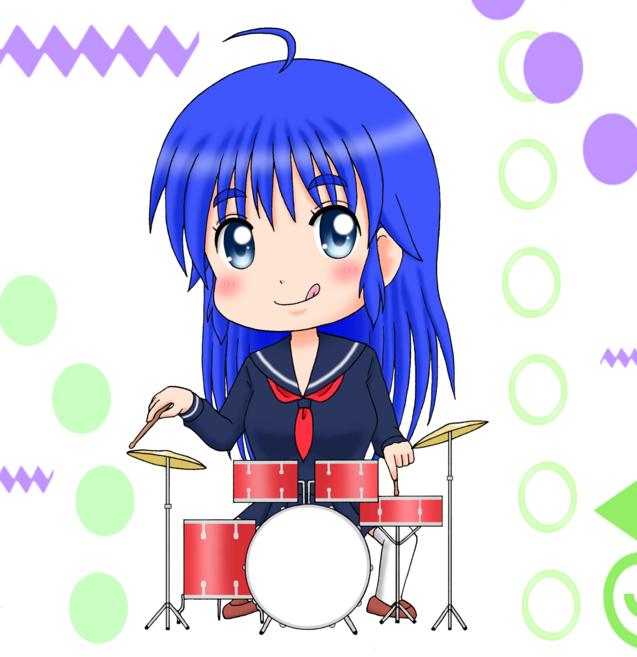 イラスト ドラム 女の子