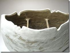 白化粧大山型花器