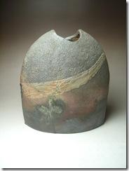 炭化焼き締め花器