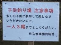 子供釣り場 注意事項