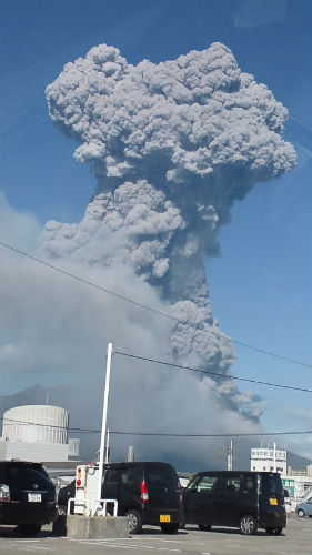 桜島噴煙2