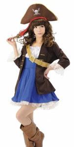 ハロウィンに海賊のコスプレ衣装が登場