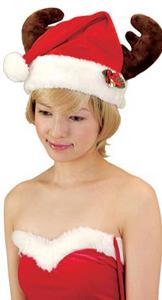 クリスマスグッズトナカイサンタ帽子