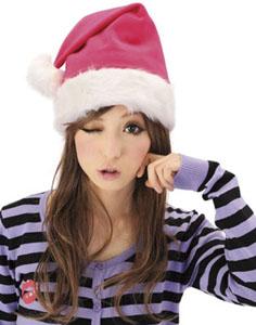 クリスマスグッズサンタ帽子DX(ピンク)