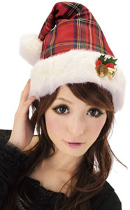 クリスマスグッズチェック帽子