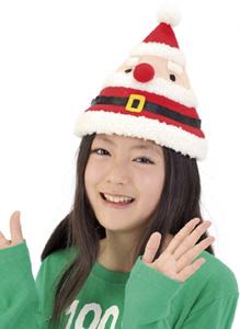 クリスマスグッズもこもこサンタ帽子