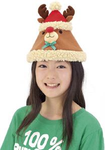 クリスマスグッズもこもこトナカイ帽子