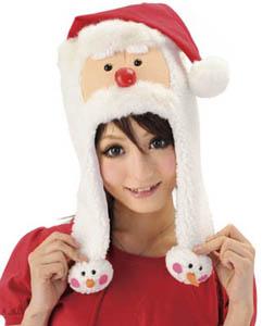 クリスマスグッズあったかサンタ帽子