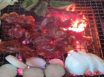 囲炉裏炭火焼き