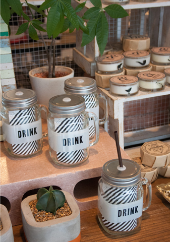 LABELD JAR MUG DRINK(メイソンジャー)