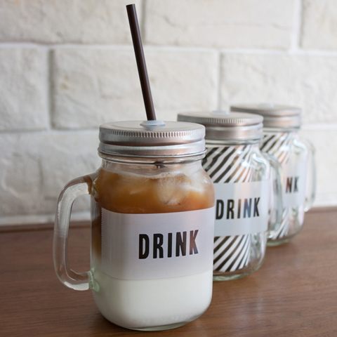 LABELD JAR MUG DRINK (メイソンジャー)