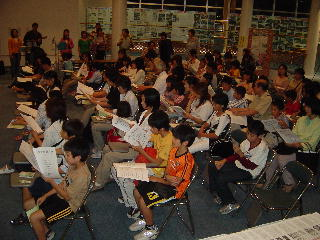 筑後川観月会、合唱