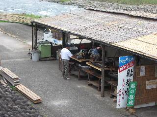 日田鮎やな場焼き場