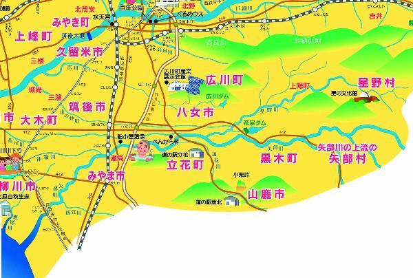矢部川地図600