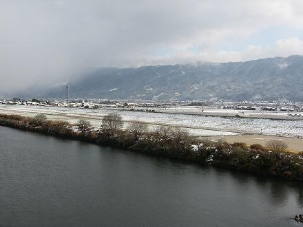 筑後川雪景色