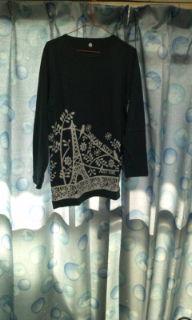ネイビーブルーセミロングTシャツ