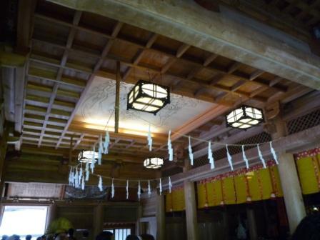 戸隠神社拝殿天井