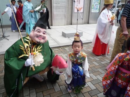 西宮恵比須神社(黒龍神社)の御稚児さん
