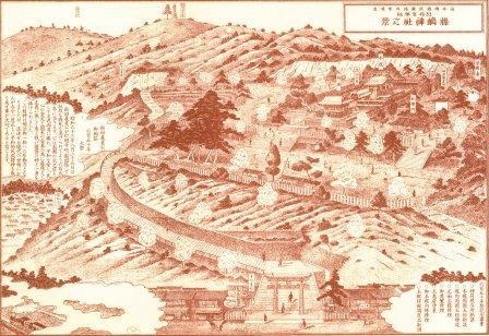 藤島神社絵図(明治後期?)