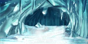 天然の氷のダンジョン