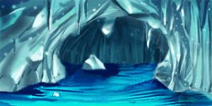 天然氷のダンジョン 水路 RTP改造戦闘背景素材