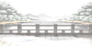 雪の橋 RTP改造戦闘背景素材