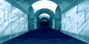 人工 氷のダンジョン 水路 RTP改造戦闘背景素材