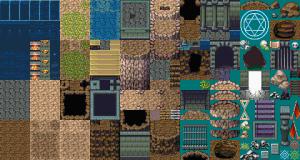洞窟の中の遺跡 FSM 改造マップチップ素材