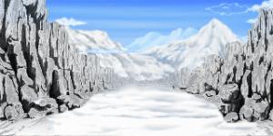 雪降る岩場の道 RTP改造戦闘背景素材