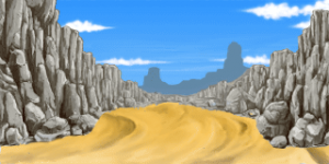 山の中の砂地 RTP改造戦闘背景素材