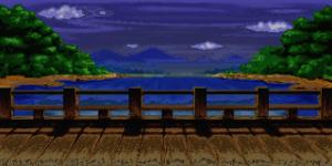 夜の橋 RTP改造戦闘背景素材