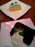 豆乳レアチーズケーキ&チョコレートシフォン
