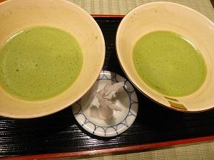 サービス抹茶&おちょぼ(和三盆)