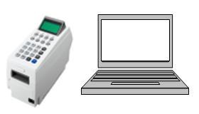 ポイント端末+PC接続