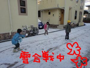 雪合戦中ぅ〜♪