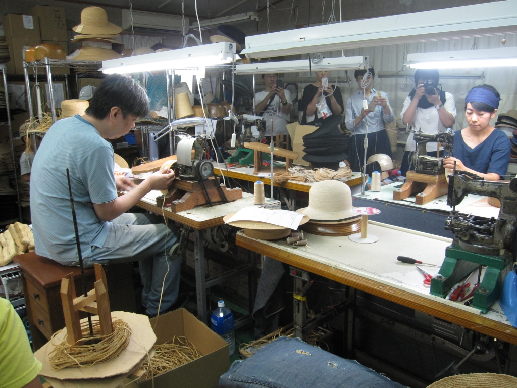 石田製帽工場見学行ってきました