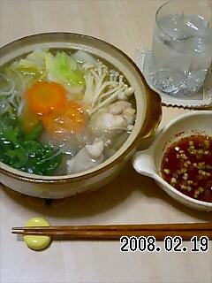 鶏鍋(水炊き)