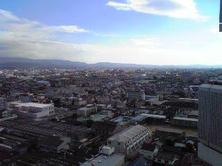 自宅からの大阪平野