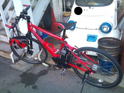 今日のマイ自転車