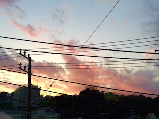 森崎の夕焼け