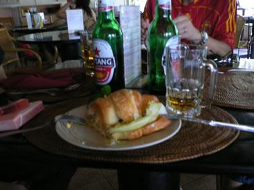 昼もビール